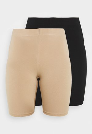 BASIC BIKER 2 PACK - Shorts - black/sesame