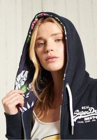 Superdry - VINTAGE LOGO - Zip-up sweatshirt - dark blue - 1