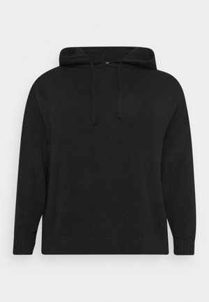 LOUNGE POCKET HOODY - Strikkegenser - black