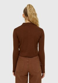 Stradivarius - Button-down blouse - mottled brown - 2
