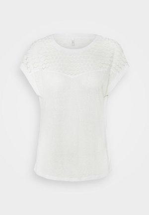 ONLNEW MIX - Print T-shirt - cloud dancer