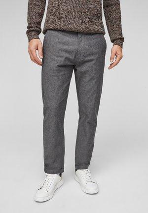 MIT KORDEL - Trousers - black melange