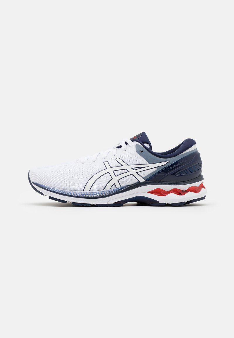 ASICS - GEL KAYANO 27 - Stabilty running shoes - white/peacoat