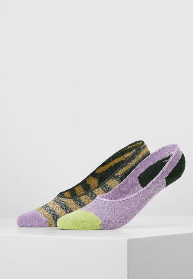 CLAUDIA INVISIBLE SOCKS 2 PACK - Varrettomat sukat - multi-coloured