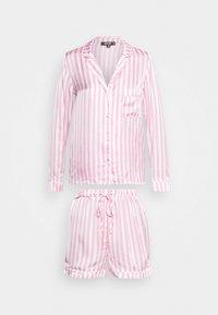 Missguided - STRIPE SET - Pyjamaser - pink - 4
