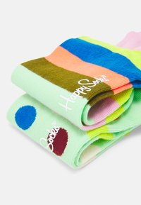 Happy Socks - BIG DOT STRIPE 2 PACK UNISEX - Socks - multi - 2