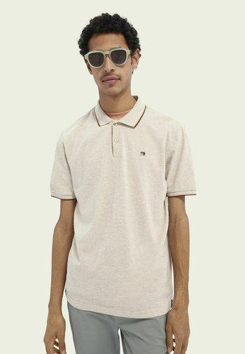 Polo shirt - stone melange