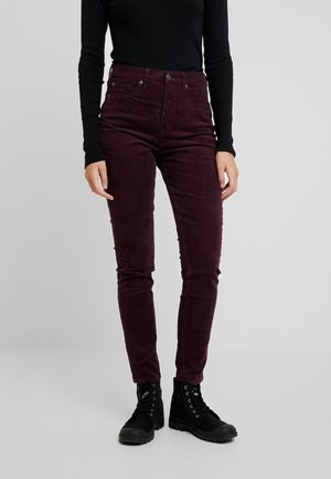 SKINNY - Trousers - rich wine