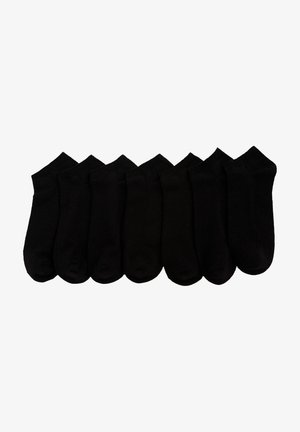 7 PACK - Trainer socks - black