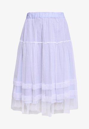 LADIES WOVEN SKIRT - Spódnica trapezowa - blue