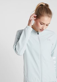 Under Armour - STORM LAUNCH LINKED UP JACKET - Chaqueta de deporte - green/halo gray - 3
