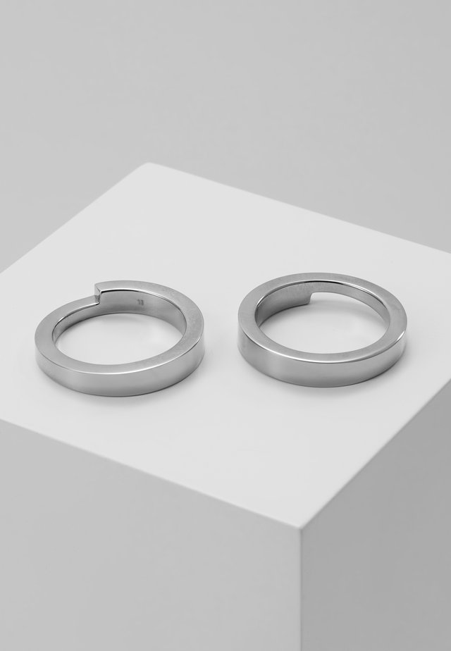 GRIDLOK 2PACK - Bague - silver-coloured