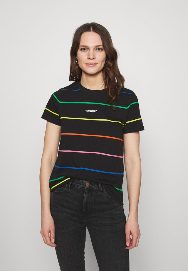 HIGH REGULAR TEE - T-shirt z nadrukiem - worn black