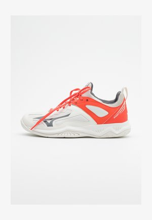 GHOST SHADOW - Handballschuh - white/shade/hot coral