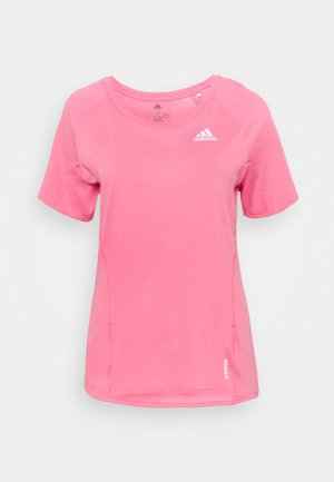 ADI RUNNER SUPERNOVA AEROREADY - T-shirts med print - rose tone