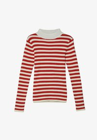 Scotch & Soda - HIGH NECK PULL - Neule - red/off white - 2