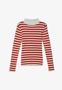 Scotch & Soda - HIGH NECK PULL - Stickad tröja - red/off white - 2