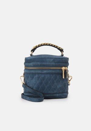 RARENI - Across body bag - denim blue/gold-coloured