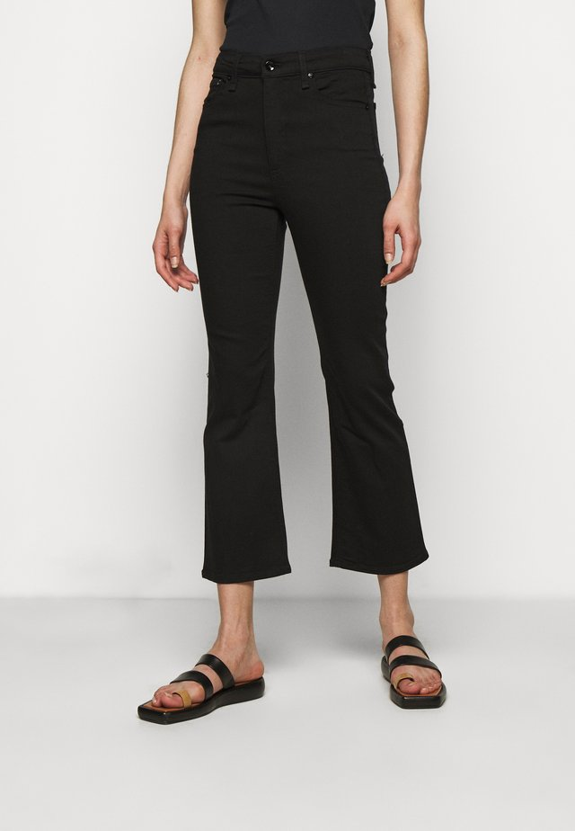 NINA HIGH RISE ANKLE FLARE - Flared jeans - black