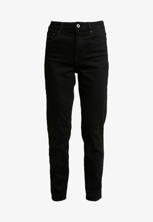 HIGH ANKLE - Straight leg jeans - jet black