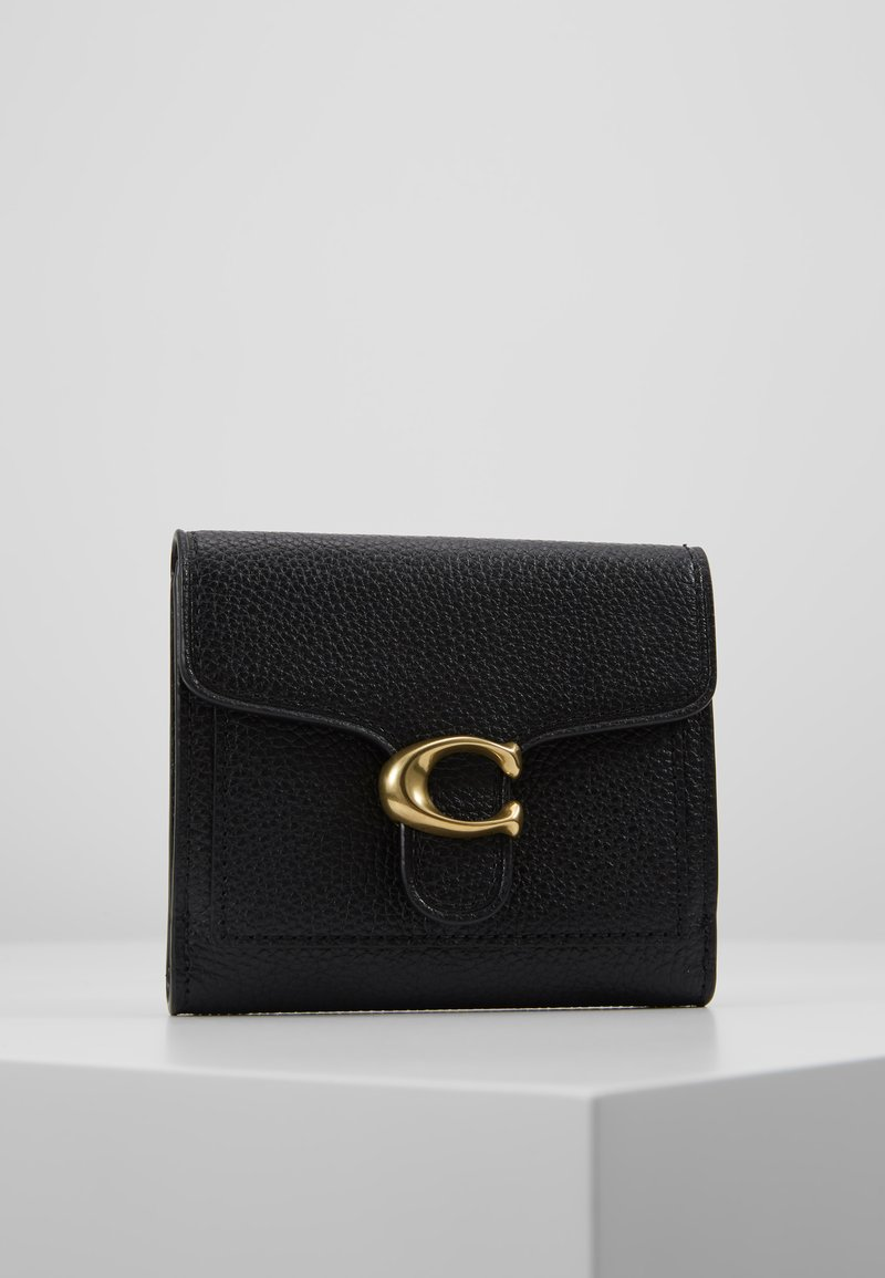 Coach - POLISHED PEBBLE TABBY SMALL WALLET - Wallet - black