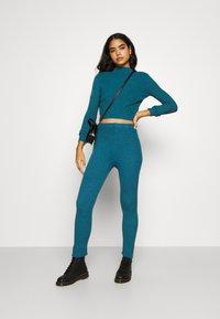WAL G. - TAJ LOUNGE TROUSERS - Trousers - dark teal blue - 1