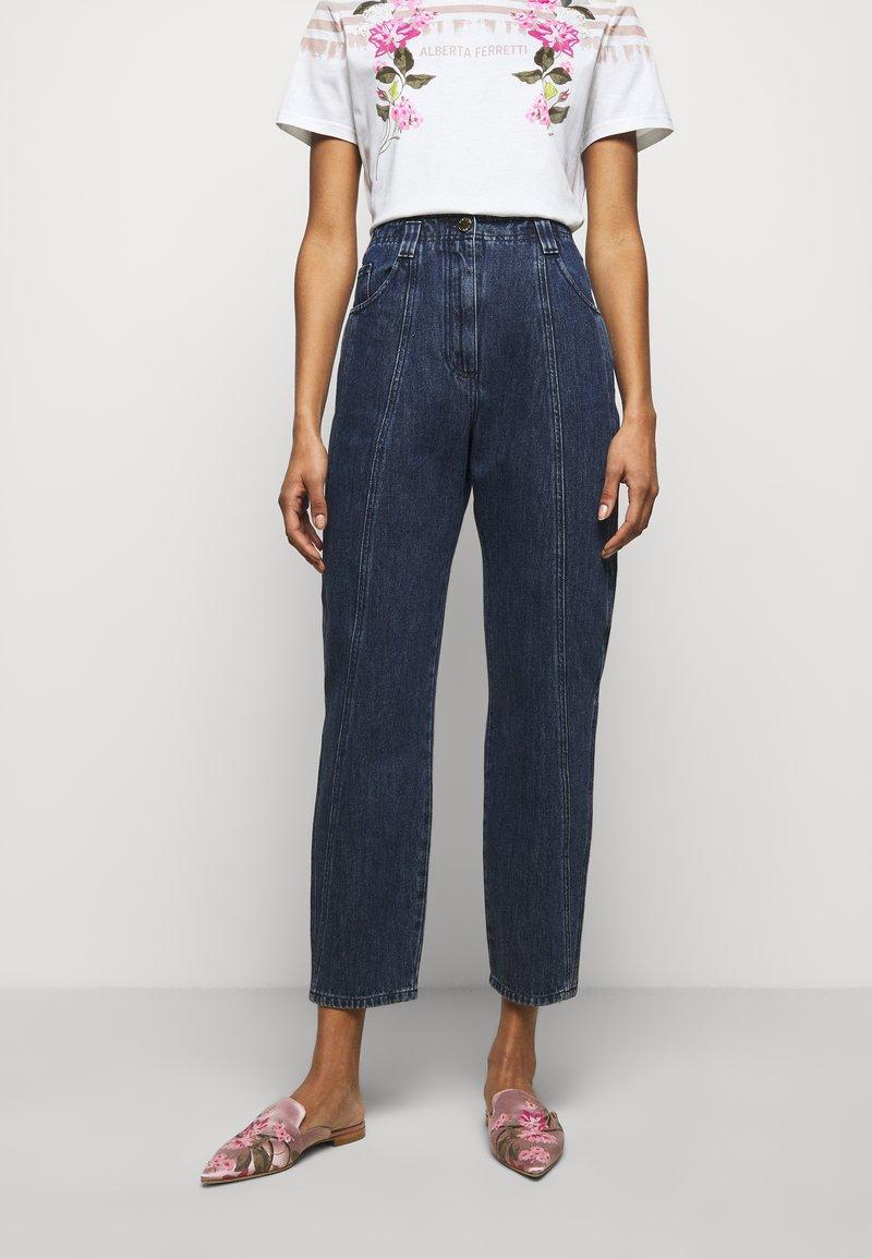 Alberta Ferretti - TROUSERS - Slim fit jeans - blue