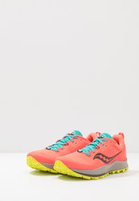 Saucony - PEREGRINE 10 - Trail running shoes - vizired/citron - 2