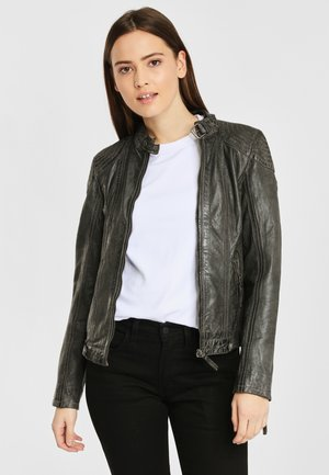 CACEY LEGV - Leather jacket - anthracite