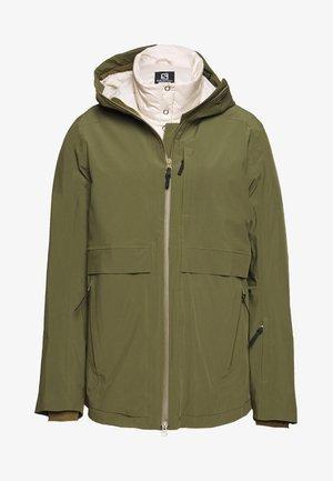 OUTLAW 3IN1  - Ski jacket - olive night/rainy day