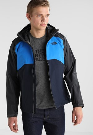 MENS STRATOS JACKET - Hardshell jacket - asphalt grey/blue/navy