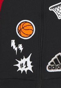 adidas Performance - Zip-up sweatshirt - black/scarlet/white - 3