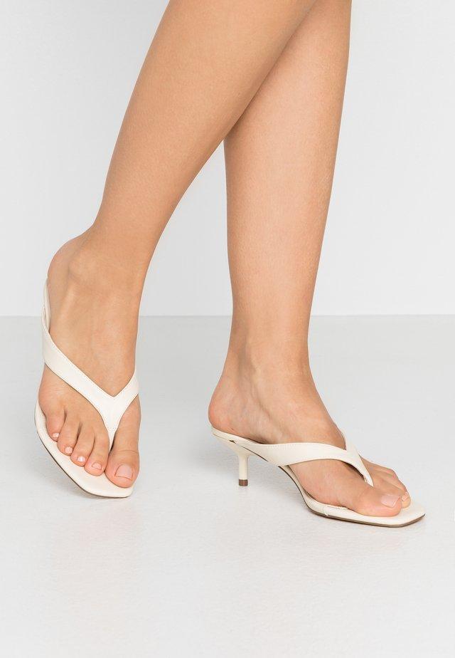 NINA MINI HEEL MULE - T-bar sandals - offwhite