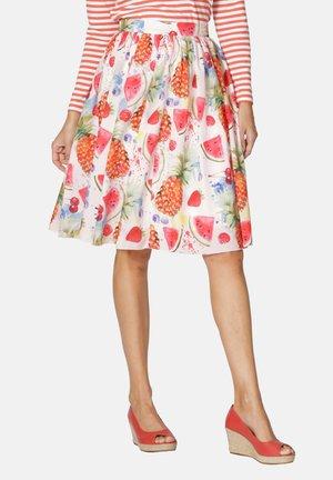 A-line skirt - weiß,rot,pink