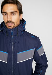 CMP - MAN JACKET ZIP HOOD - Skijacke - black blue - 5