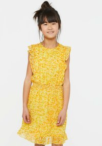 WE Fashion - WE FASHION MEISJES JURK MET GLITTERDETAILS - Vestido informal - yellow - 1
