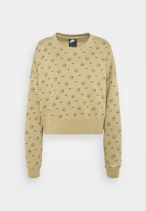 CREW PRINT - Sweatshirt - parachute beige