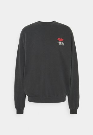 CREW JAPAN LIPS UNISEX - Sweatshirt - black wash