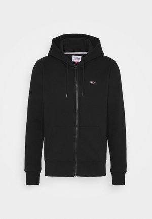 REGULAR ZIP HOOD - Huvtröja med dragkedja - black