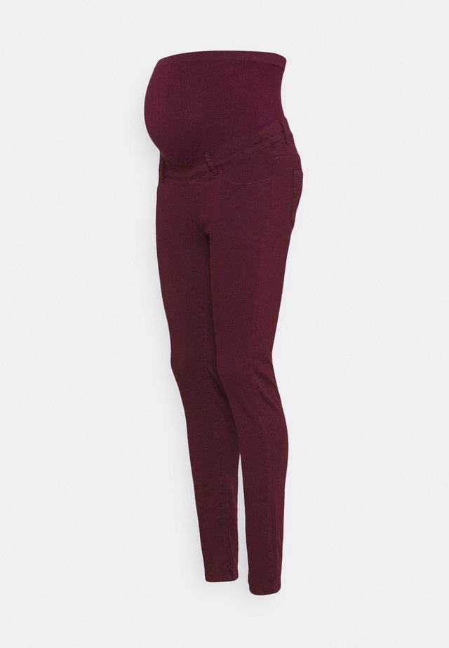 NEO SEAMLESS - Jeans Skinny Fit - aubergine