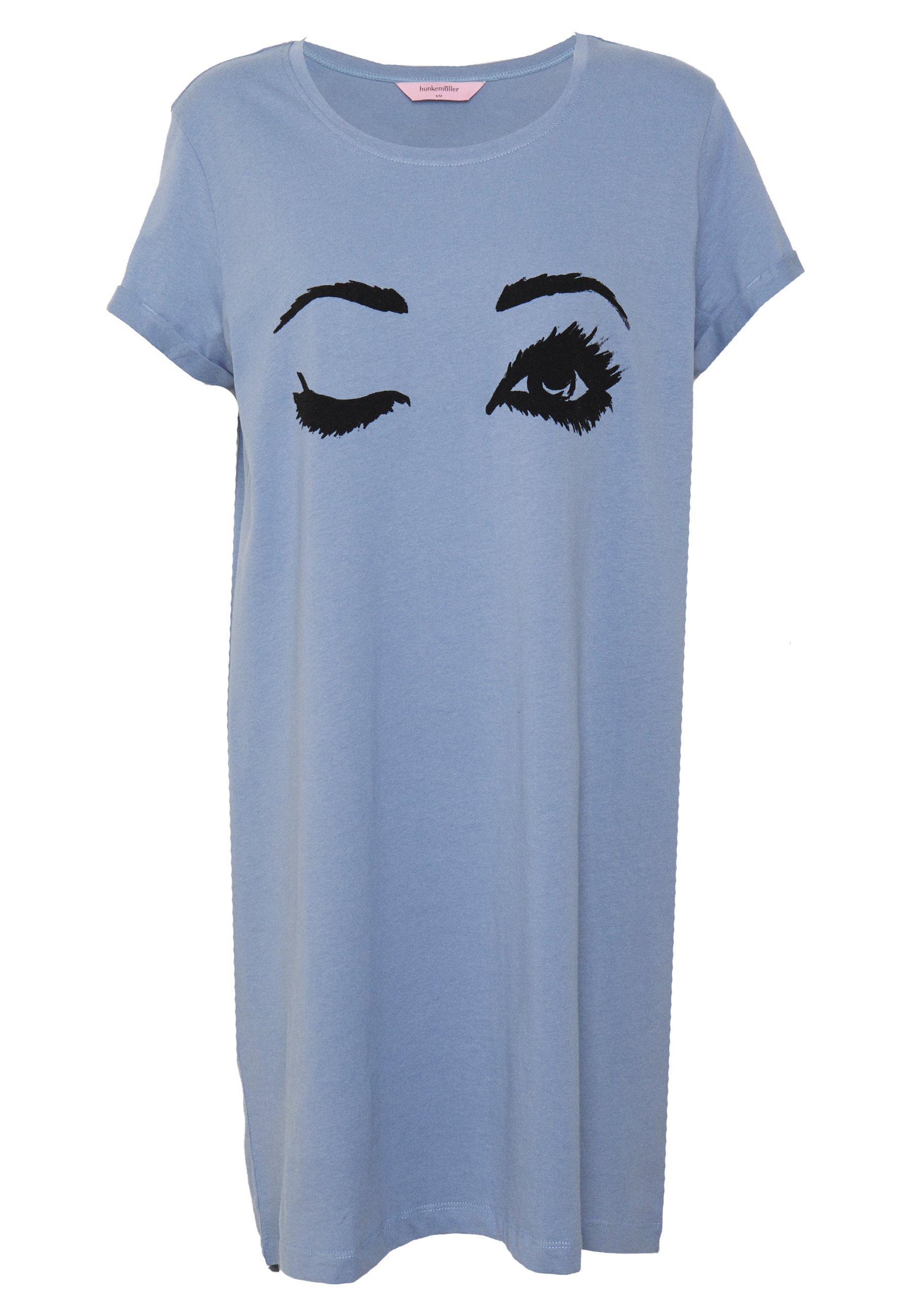 Hunkemöller Nightie R Neck - Nattskjorte Country Blue/blå