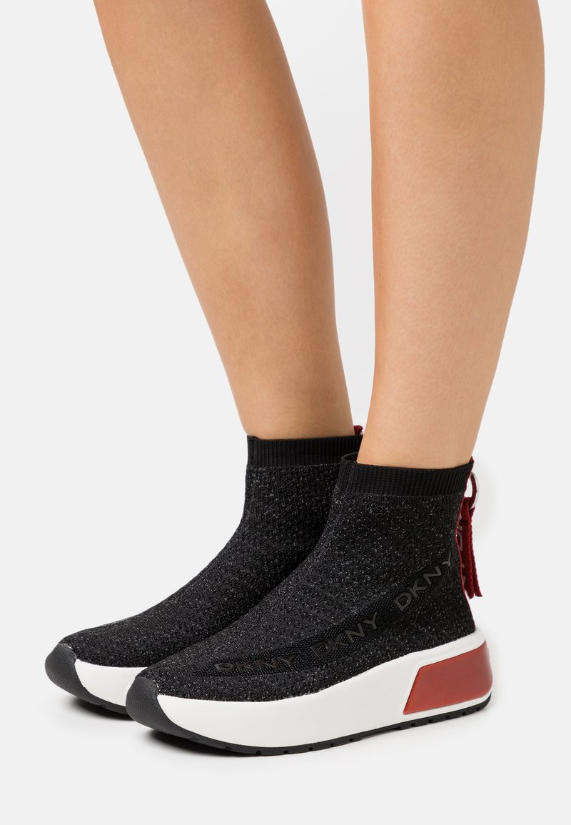 DKNY - DAWSON - High-top trainers - black/red