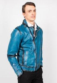 Freaky Nation - BENBLUE-FN - Leather jacket - multiple blue - 4