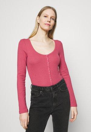 HENLEY BODYSUIT - Long sleeved top - faded rose
