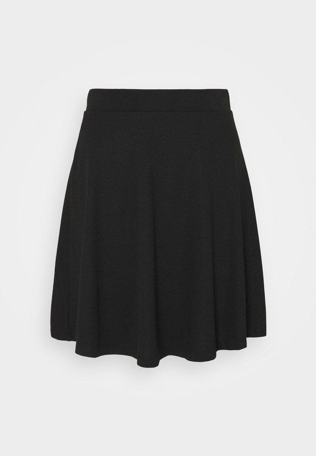 FLOW MINI SKIRT - Jupe trapèze - black