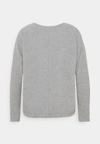 ONLY - ONLNAJA BATSLEEVE - Strickpullover - medium grey melange - 1