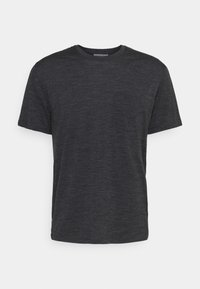Icebreaker - RAVYN POCKET CREW - Basic T-shirt - jet heather - 0
