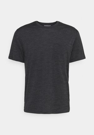 RAVYN POCKET CREW - T-shirt - bas - jet heather