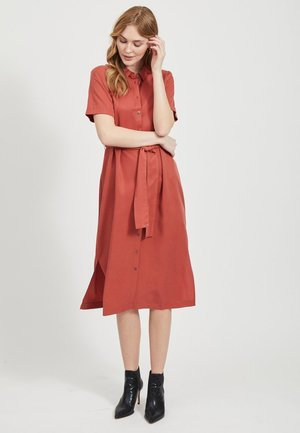 OBJTILDA ISABELLA S/S DRESS NOOS - Shirt dress - tandori spice