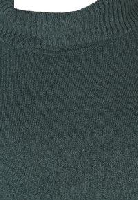 Zizzi - PONCHO - Stickad tröja - green - 4